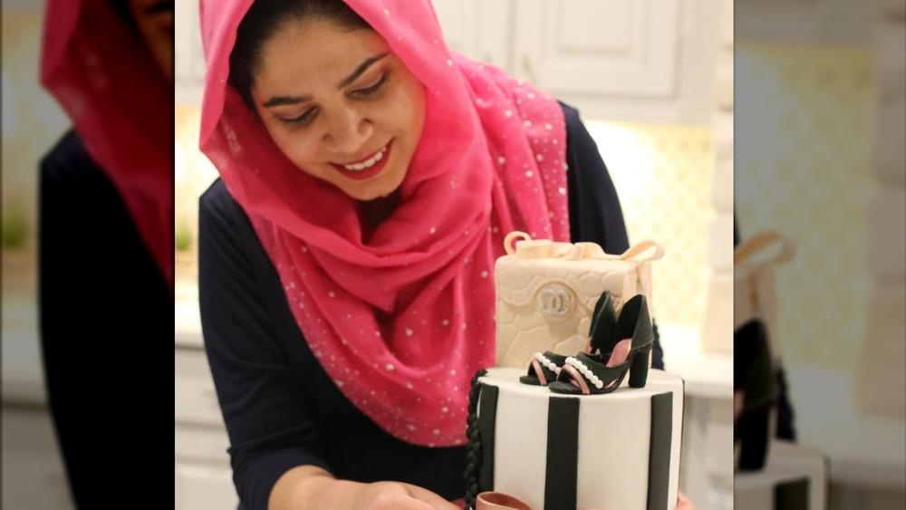 Chef Madiha Chugtai with her cake