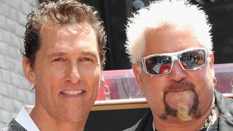 Matthew McConaughey and Guy Fieri smiling