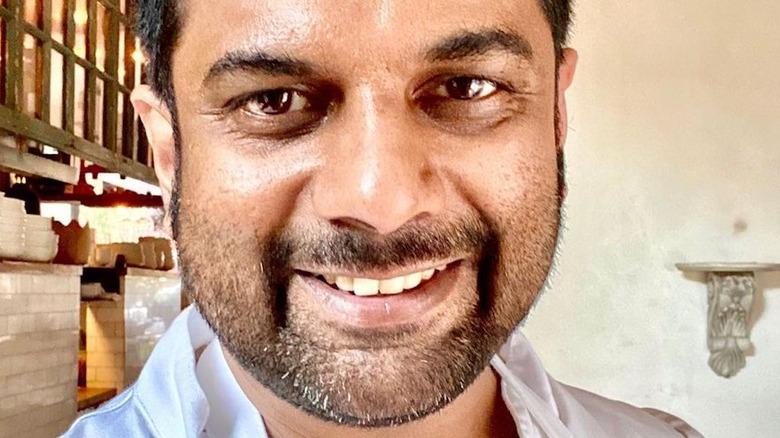 Chef Mohan smiling in selfie