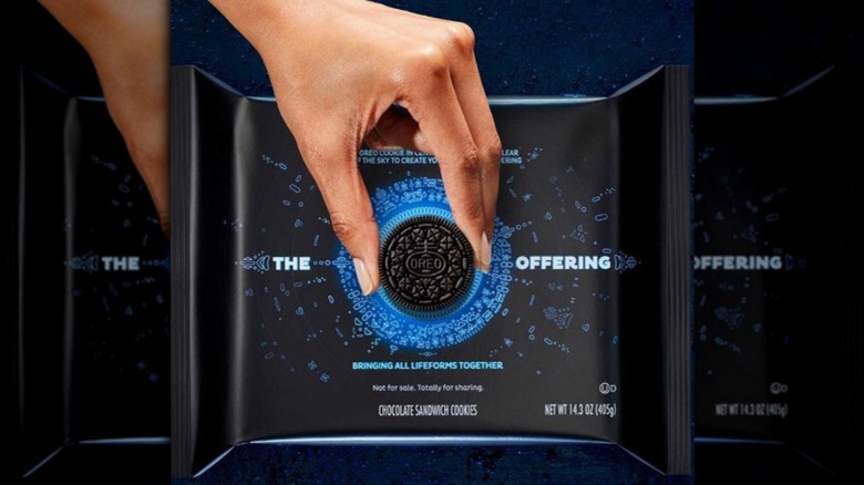 Oreo 'The Offering' alien-themed cookie package