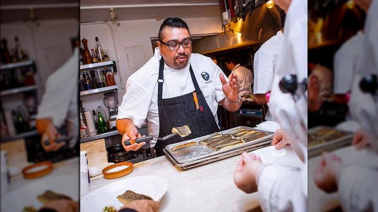 Paras Shah in kitchen