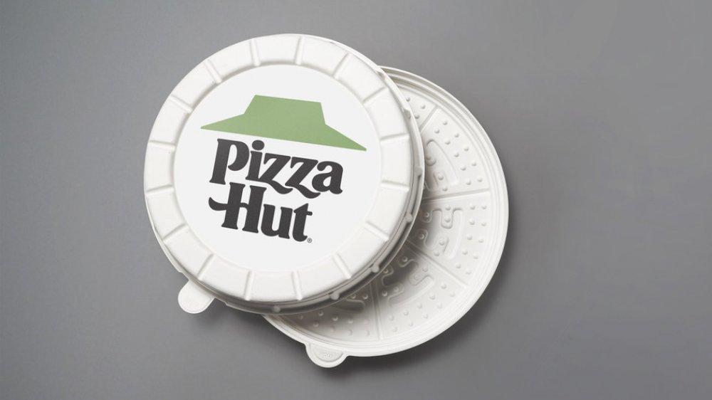 round pizza hut box