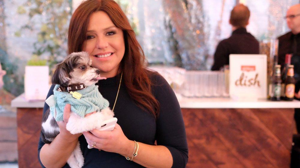 Rachael Ray with dog and Nutrish Dish dog food