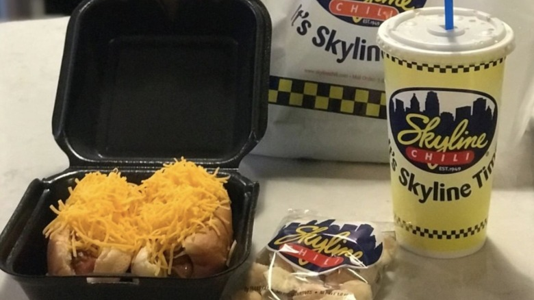 Skyline Chili food and containers
