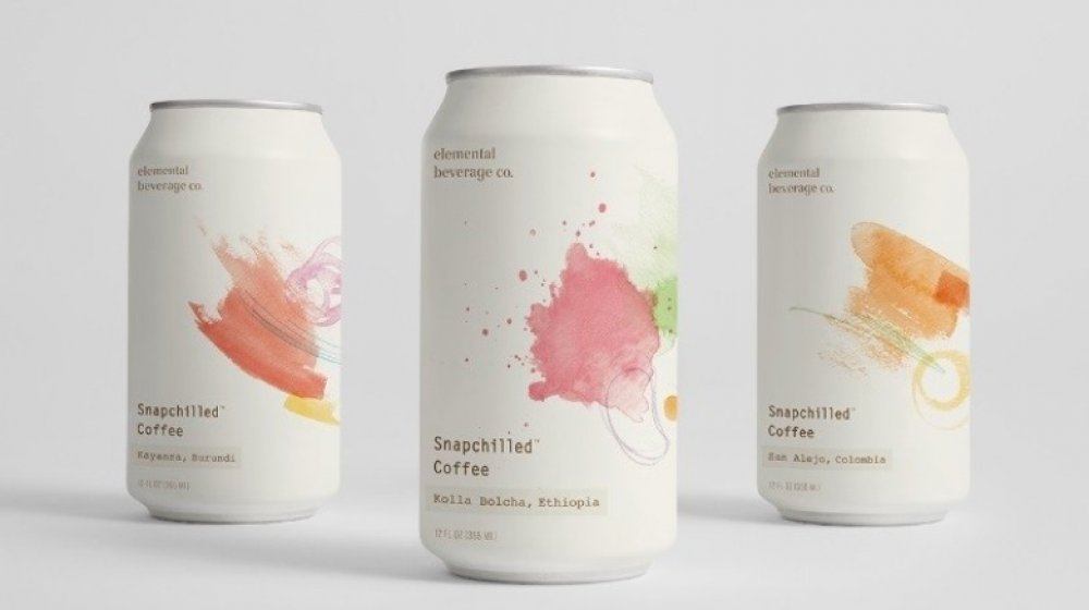 Cans of snapchilled coffee
