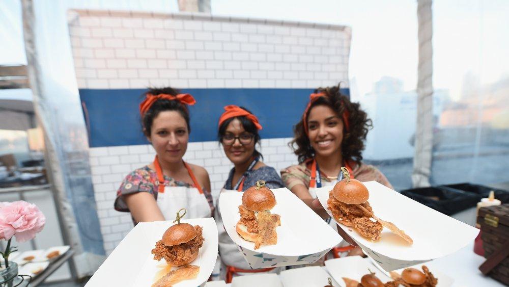 Sohla El-Waylly with fellow chefs