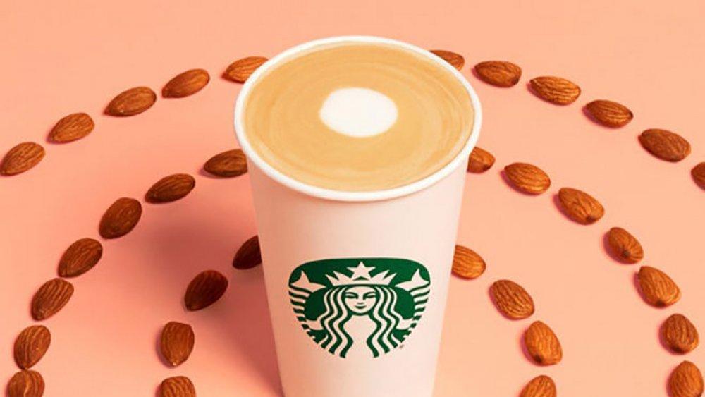 starbucks almond milk coffee drink