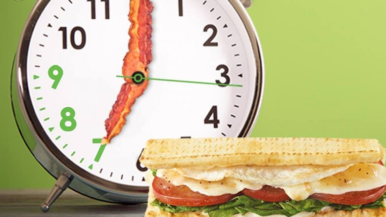 Subway breakfast sandwich ad
