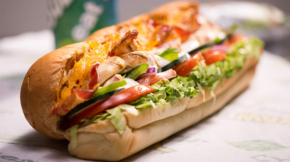 Subway Chicken and Bacon Ranch sandwich