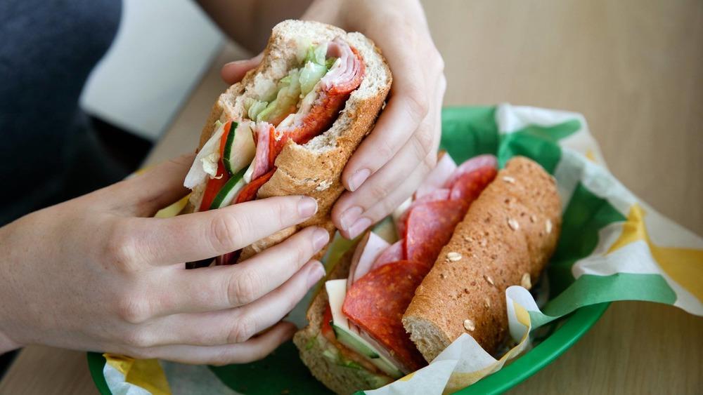 Subway signature BMT sandwich