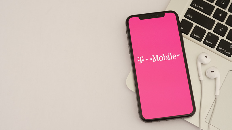 A phone with the T-Mobile logo