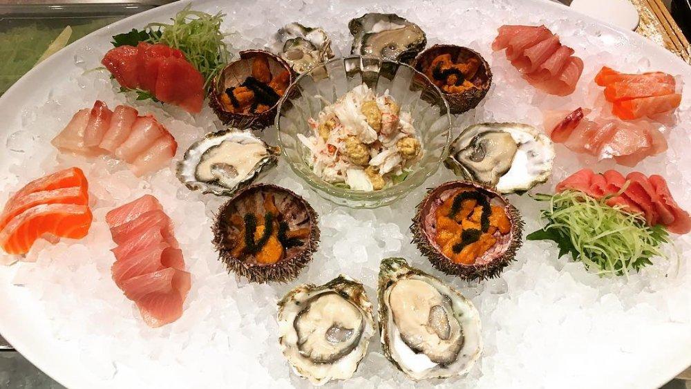Samples of sashimi