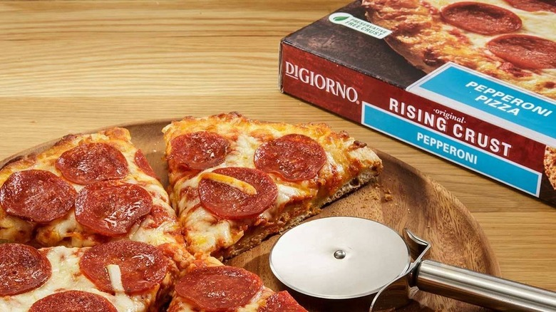 Digiorno frozen pizza and box