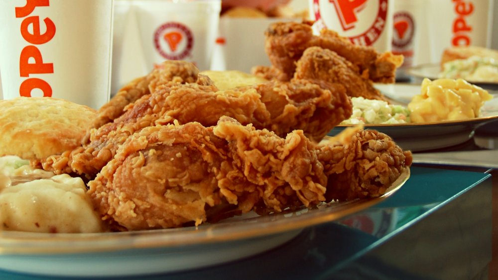 Popeyes fried chicken with sides