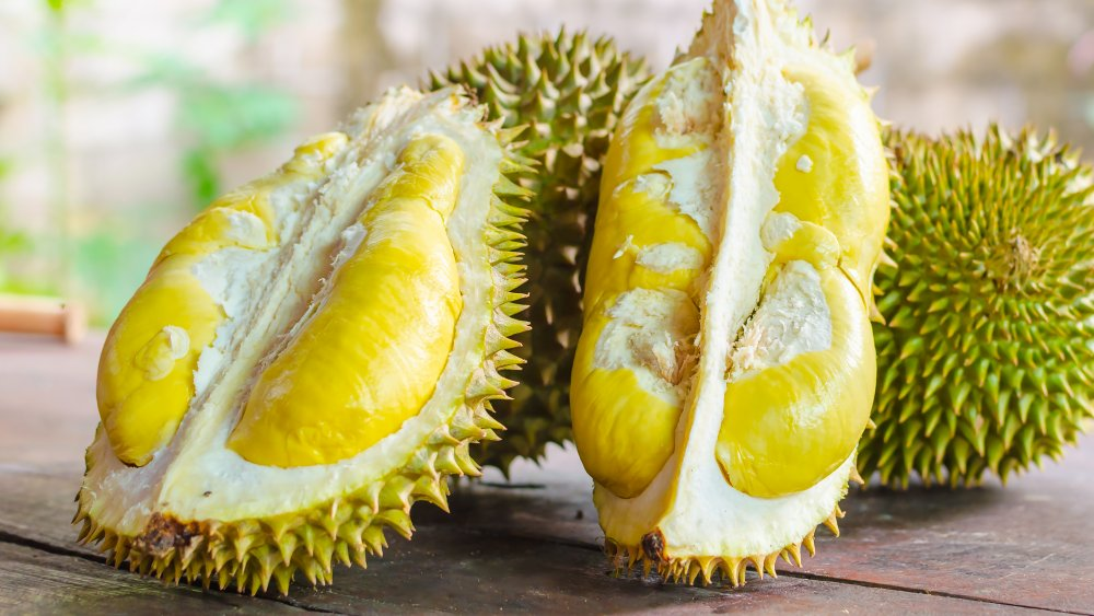 Durian, one of the stinkiest fruits in the world.
