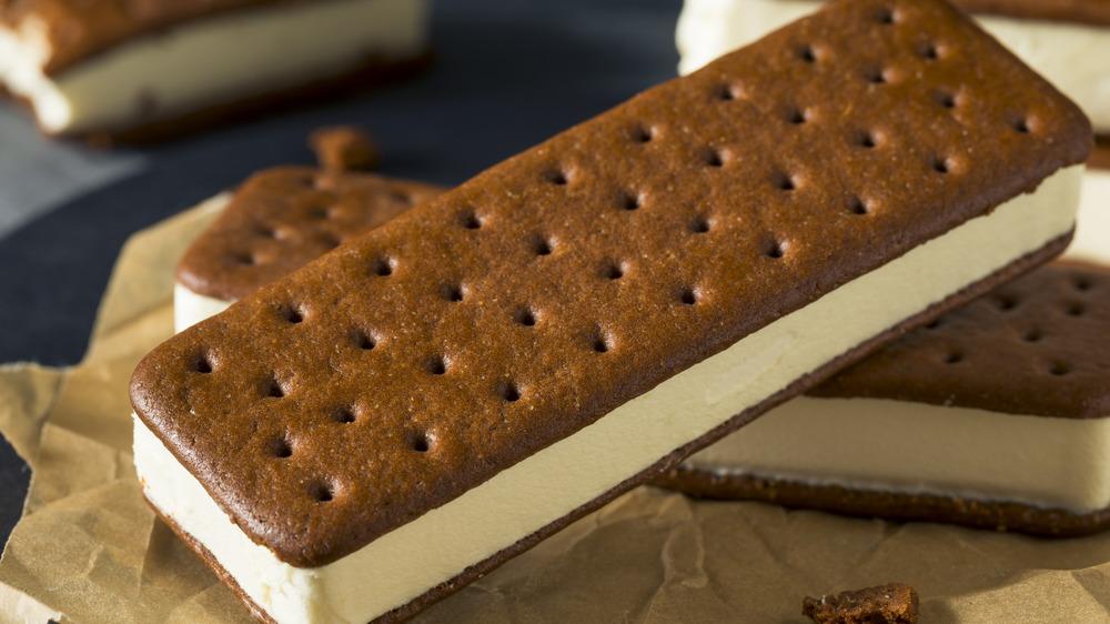 A generic photo of an ice cream sandwich