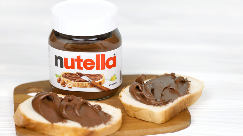 Nutella on bread