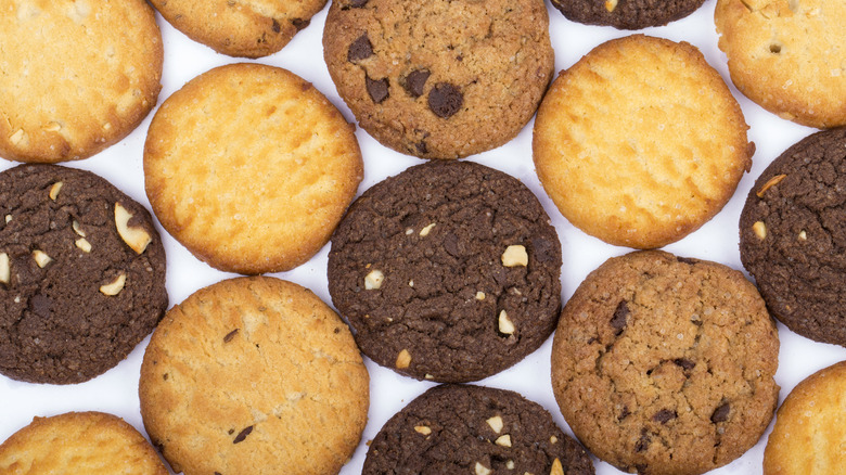 Assorted cookies on a table
