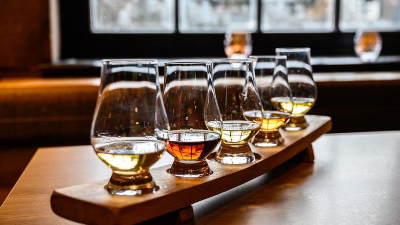 Bourbon in Glencairn glasses