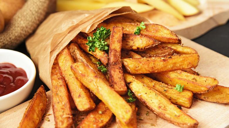 Crispy seasoned French fries