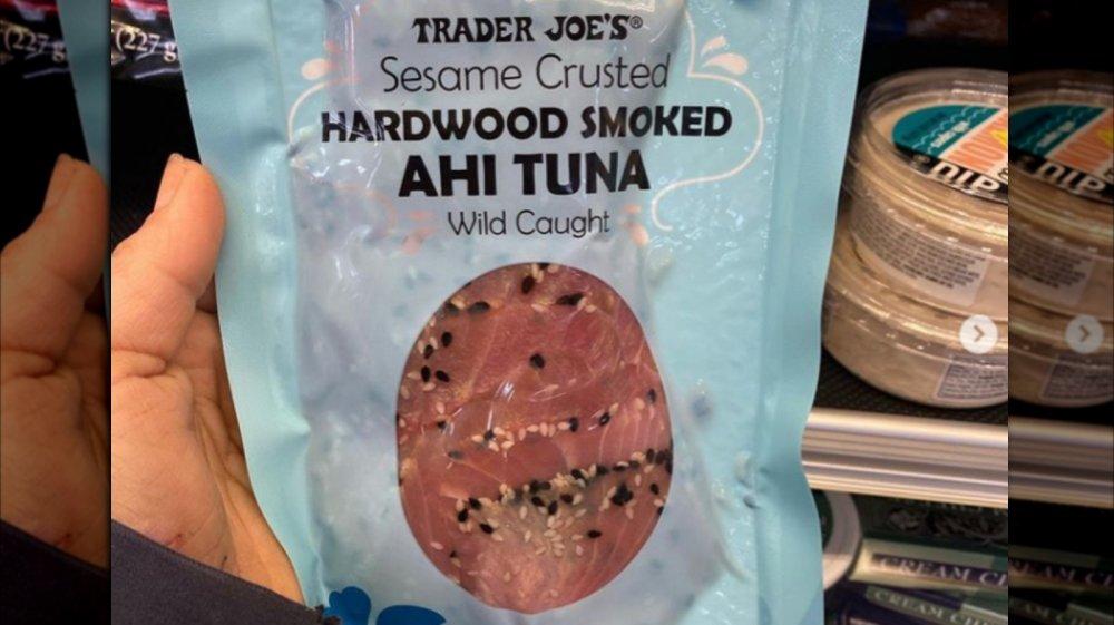 Trader Joe's Sesame Crusted Hardwood Smoked Ahi Tuna
