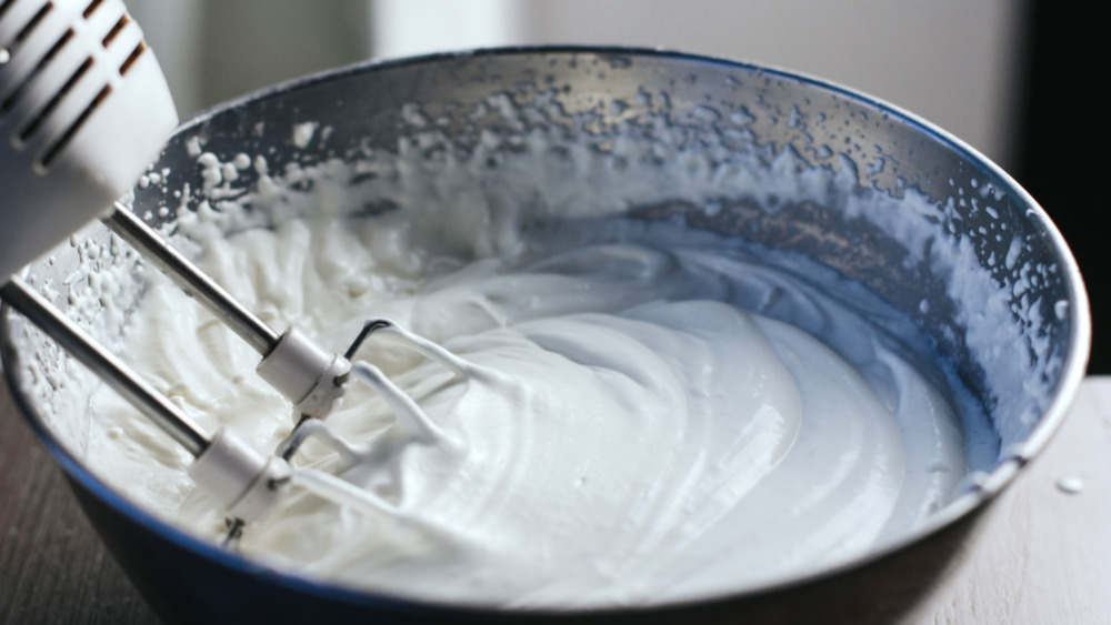 Large bowl of whipped cream