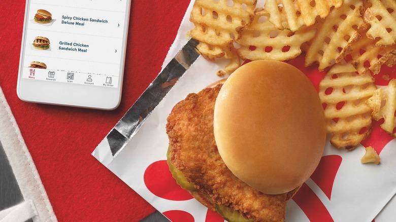 Chick-fil-A food