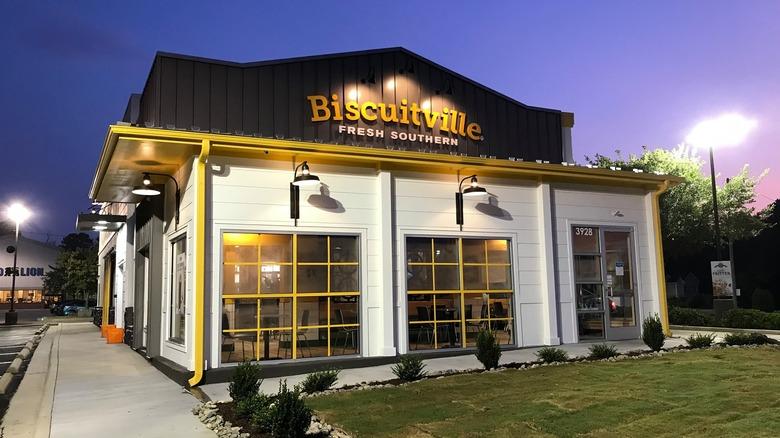 Exterior of Biscuitville restaurant