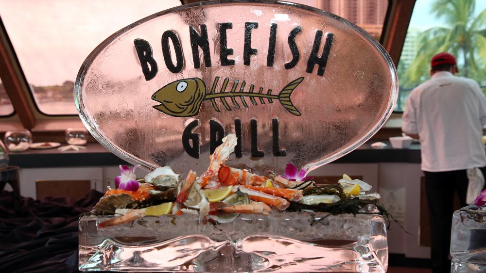 Bonefish Grill ice sculpture
