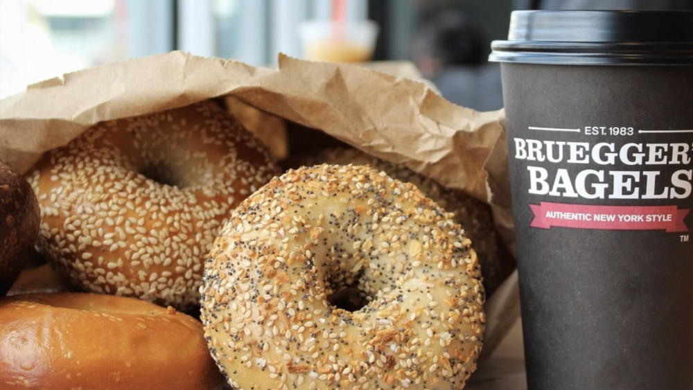 Bruegger's bagels and coffee