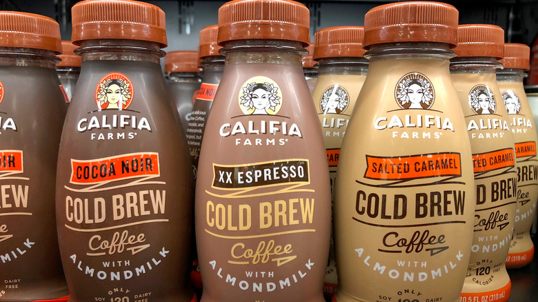 Bottles of Califia Farms cold brew
