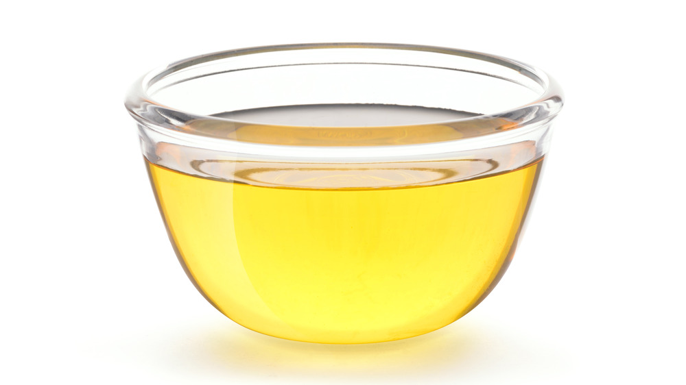 small bowl canola cooking oil