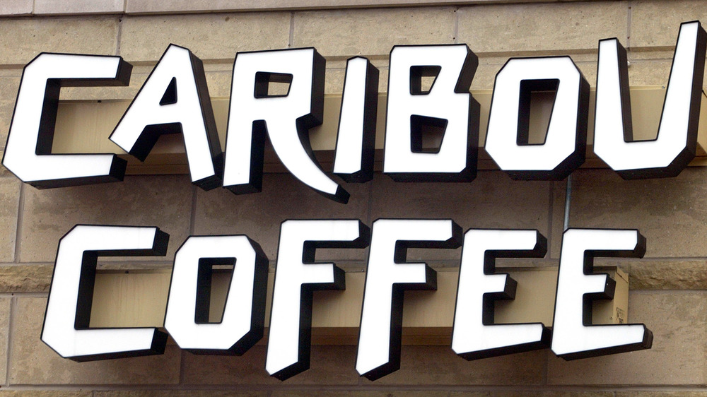 Sign outside a Caribou Coffee outlet
