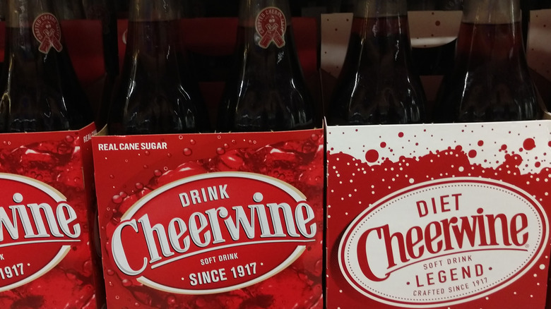 Boxes of Cheerwine bottles