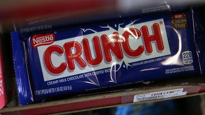 Crunch Bar on store shelf
