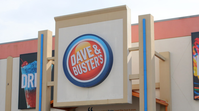 outside dave and buster's exterior sign