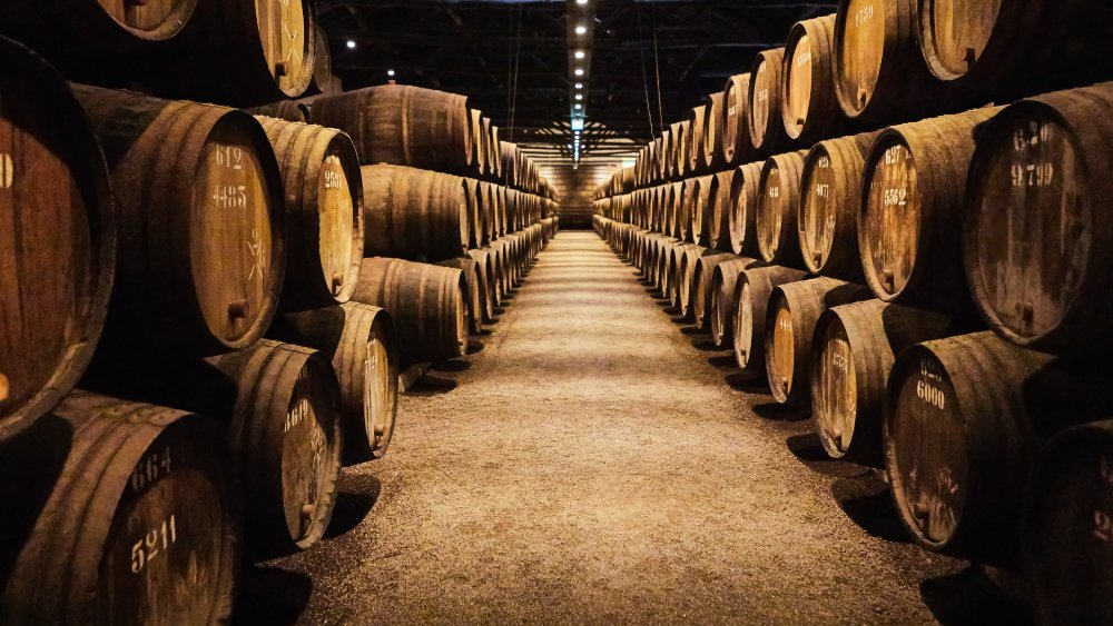 Fortified wine barrels