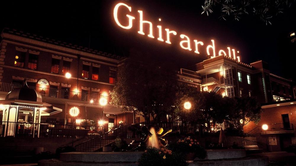 Ghirardelli Square at night in San Francisco.