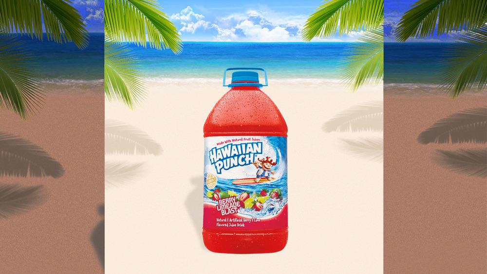 Hawaiian Punch on beach