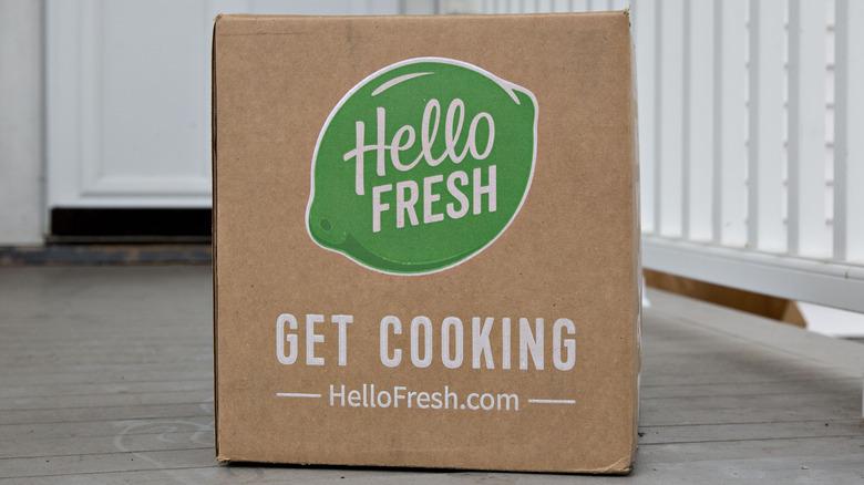HelloFresh box on porch