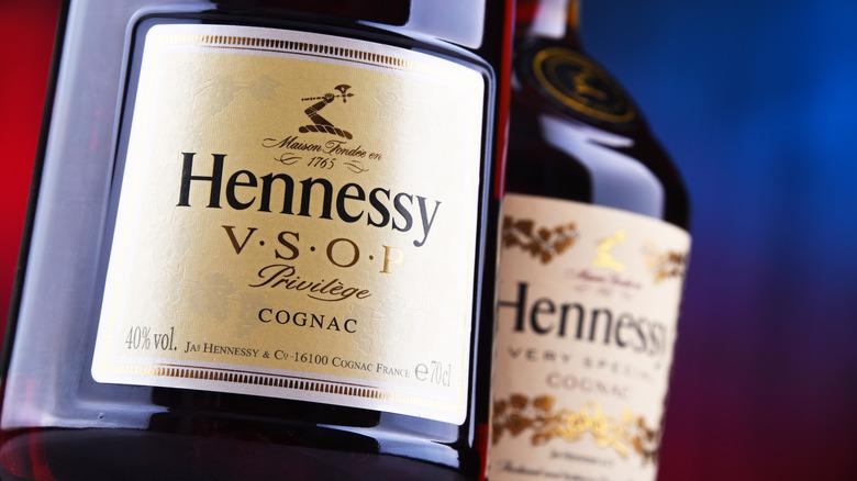 Bottles of Hennessy Cognac