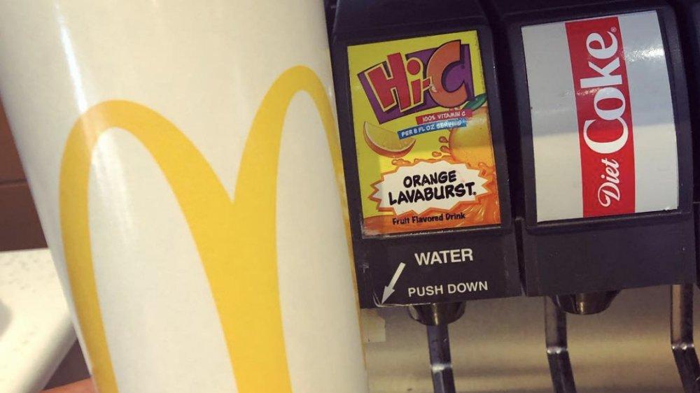 Hi-C Orange Lavaburst at McDonald's
