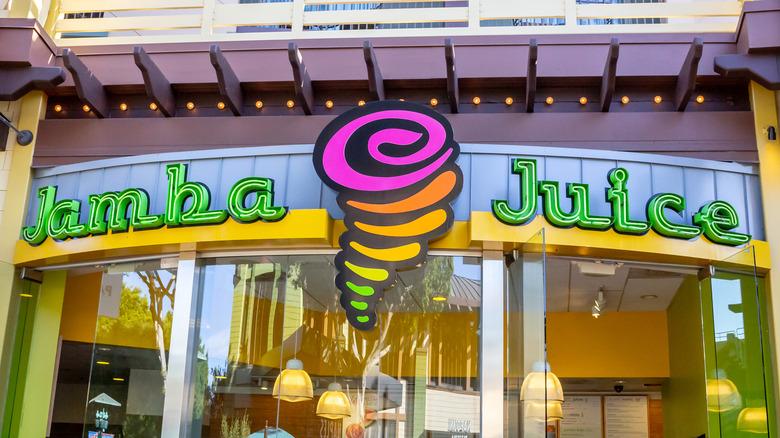 Jamba location neon sign
