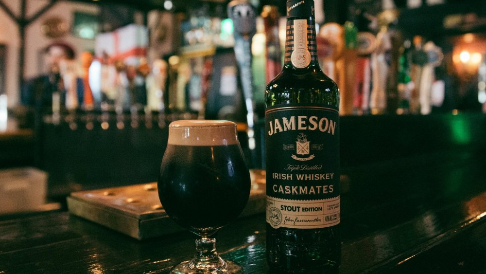 Jameson whiskey on a bar