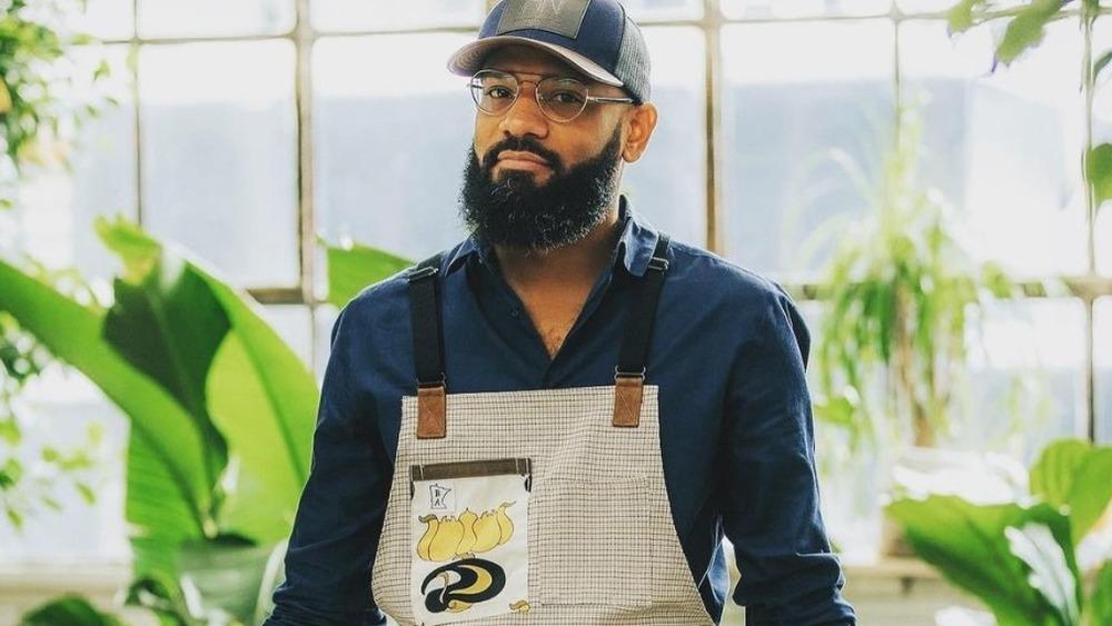 Chef Justin Sutherland wearing apron