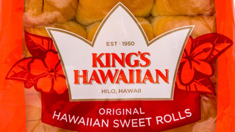Orange package of King's Hawaiian rolls