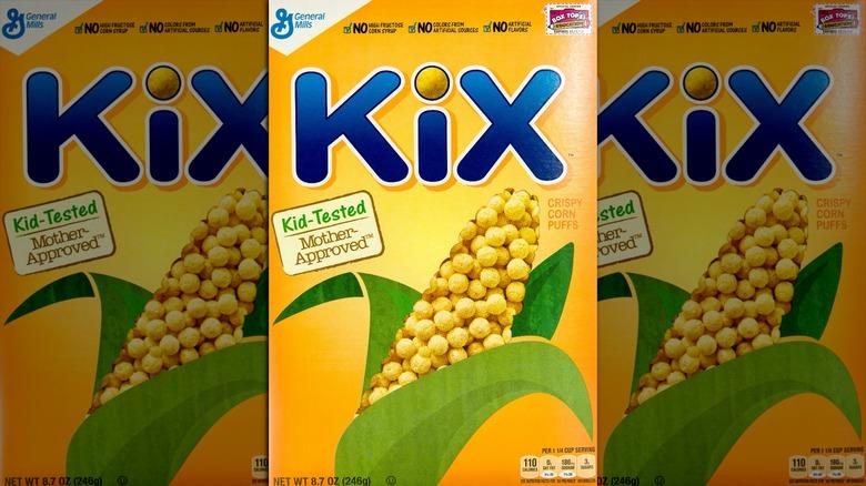 Box of Kix cereal