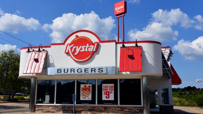 exterior of a Krystal restaurant