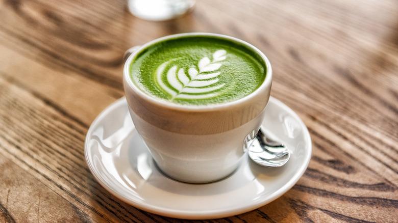 Matcha prepared as a latte