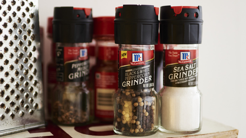 Jars of McCormick spices